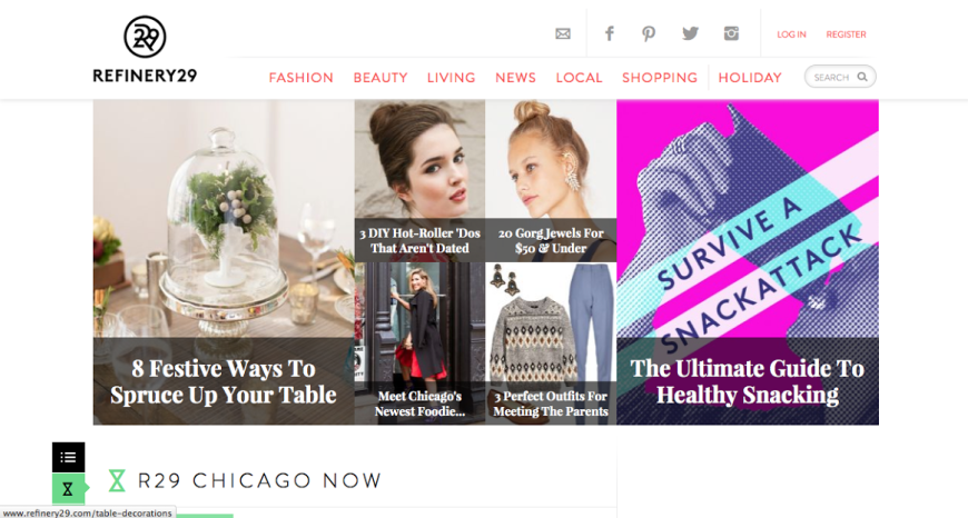 refinery29 front page